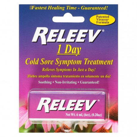 Releev™ 1 Day Cold Sore Treatment